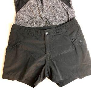 North Face nylon hiking shorts black sz 14